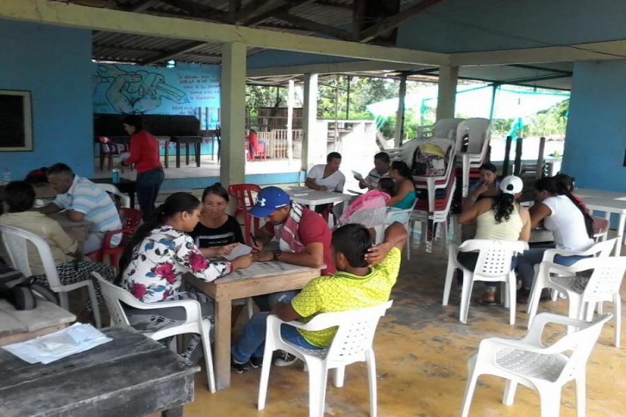 Taller libros de Tesorería - JAC Las Delicias - Valle del Guamüez