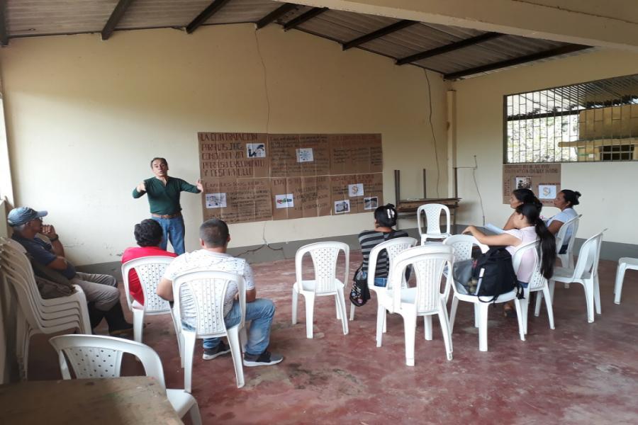 Taller de contratación - JAC Nueva Risaralda - San Miguel