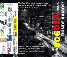 Foro ¿Bogotá hacia dónde vamos?